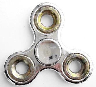 zilveren fidget spinner glans