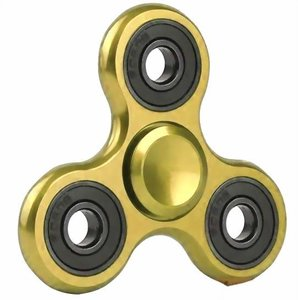 fidget spinner metallic goud