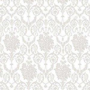 Rond tafelzeil barok gotisch wit (140cm)