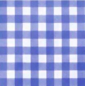 Rond tafelzeil grote ruit blauw (140cm)