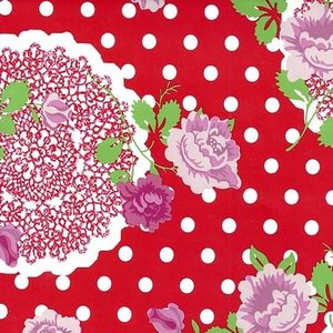 tafelzeil bloemen flowers rood
