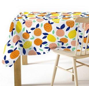 Ovaal tafelzeil citrusfruit
