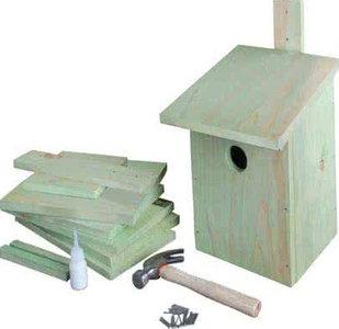 Maak je eigen vogelhuisje (incl. hamer etc.)