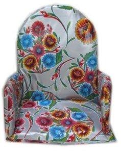 Kitsch Kitchen stoelverkleiner floral zilver