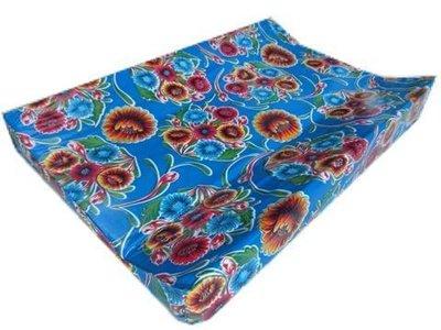 Kitsch Kitchen aankleedkussen floral blauw