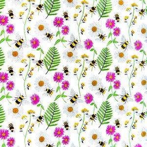 Tafelzeil bloemen en bijen