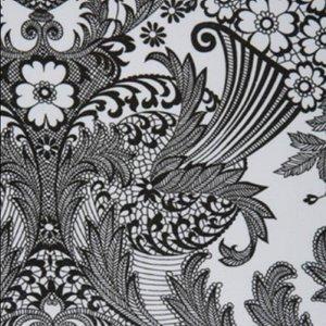 Mexicaans tafelzeil paraiso zwart op wit