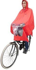 regenponcho fiets rood