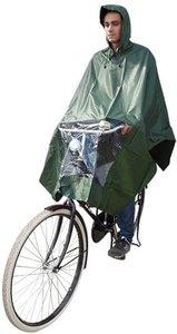 regenponcho fiets groen