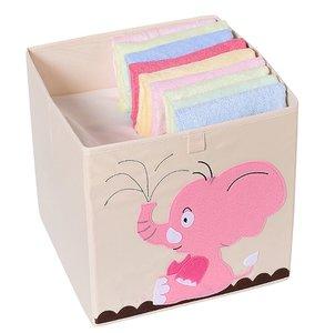 opbergmand gestoffeerd baby olifant