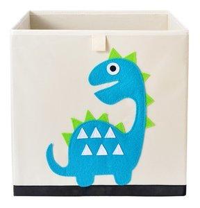 opbergmand jongenskamer dinosaurus blauw
