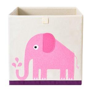 vierkante opbergmand 33x33x33cm olifant