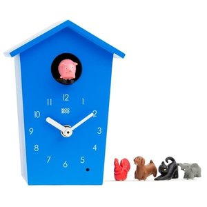 kookoo klok animal house blauw