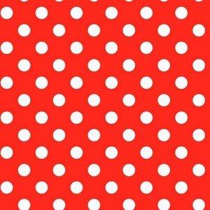Plakfolie polkadot stippen rood (45cm)
