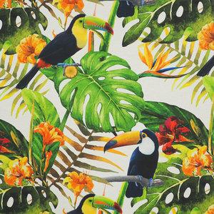 Wasbaar tafellinnen toekan tropisch