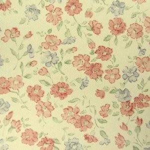plakfolie bloemetjesbehang vintage