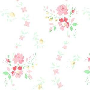 plakfolie brocante roosjes roze