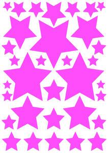 Fietsstickers sterren roze