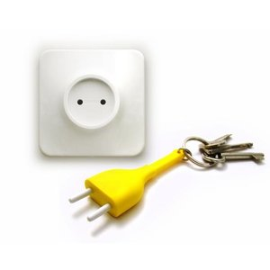 Qualy unplug sleutelhanger geel
