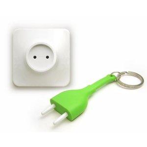Qualy unplug sleutelhanger groen