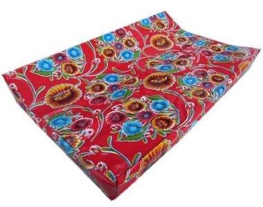 Kitsch Kitchen aankleedkussen floral rood