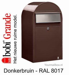 Brievenbus Bobi Grande donkerbruin RAL 8017