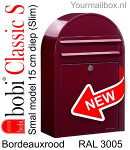 Bobi brievenbus Classic S bordeauxrood RAL 3005