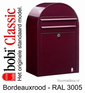 brievenbus bobi classic bordeaux rood