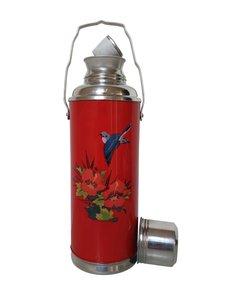 chinese thermoskan bloemen vogel rood