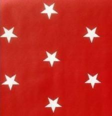 Kitsch Kitchen plakfolie Star White On Red 200x45cm